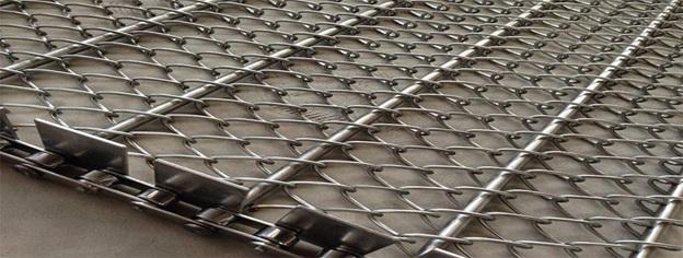 تولید توری نوار نقاله با طرح و مدل های مختلف از نوع استیل - گالوانیزه - آهن - آلیاژهای مختلف